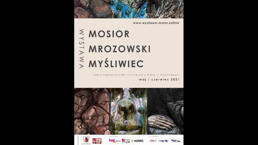 Plakat wystawy Mosior-Mrozowski-Myśliwiec